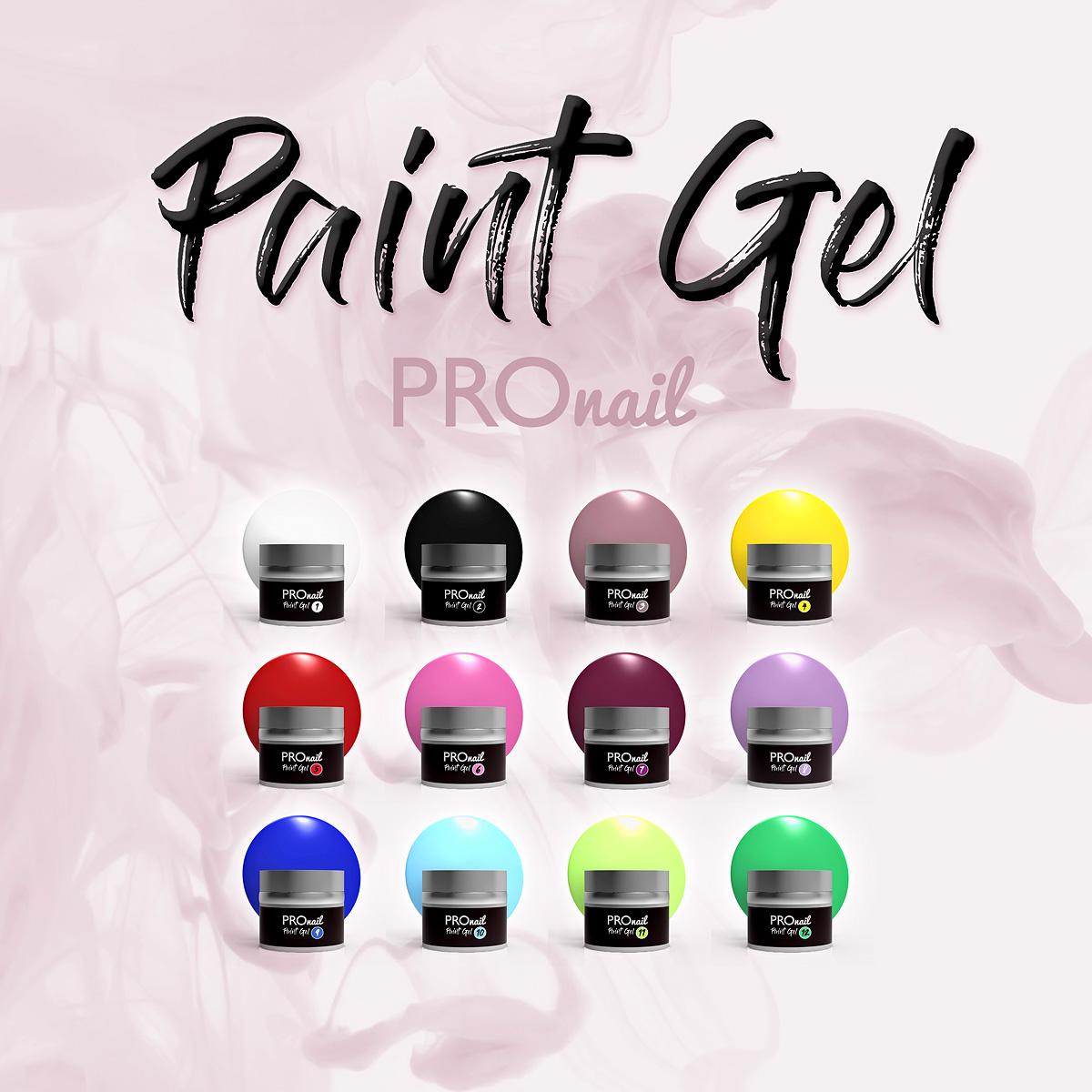 Paint Gel PROnail - żele do zdobień, paint żele, żele do zdobienia paznokci